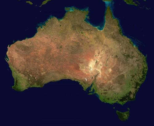 Australia - Satellite view