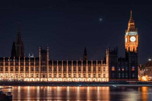 Houses of Parliament by night, London