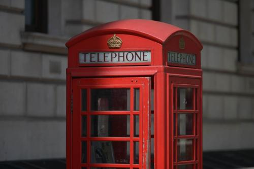 Phone box, London
